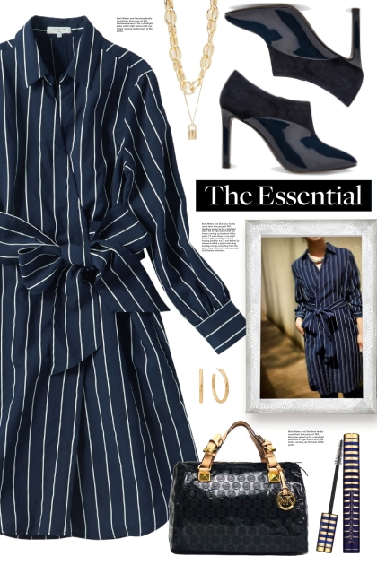 Navy Stripe Dress!