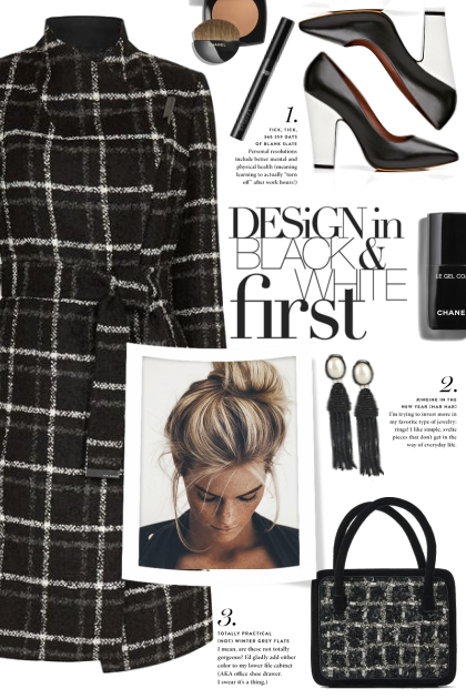 Black Plaid Coat!