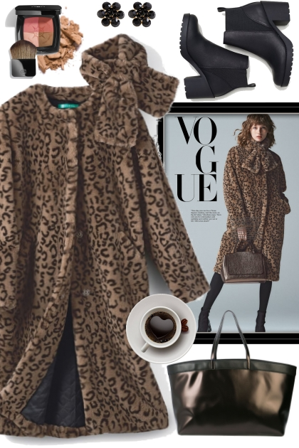 Leopard Faux Fur Coat!