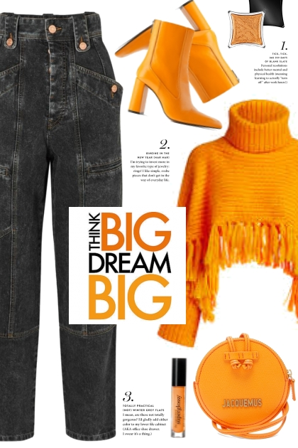 Orange Fringe Sweater!