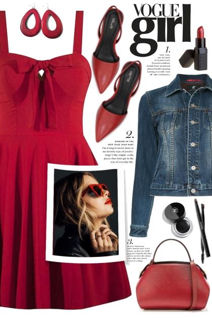 Red Tie Dress!