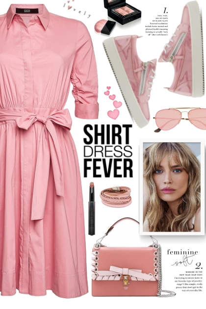 Pink Shirt Dress!