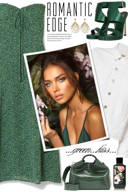 Green Floral Print Dress!