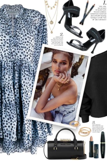 Blue Leopard Print Dress!