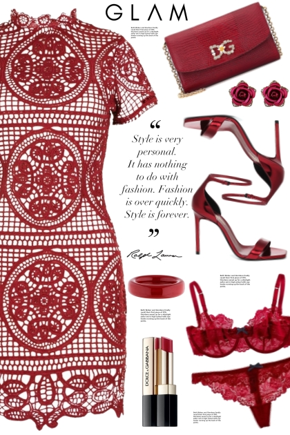 Boohoo Red Lace Dress!