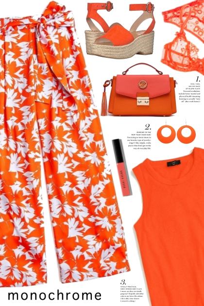 Monochrome Orange!- コーディネート