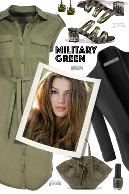Military Green Shirtdress!
