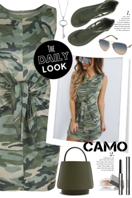 Camo Tie Waist Dress!