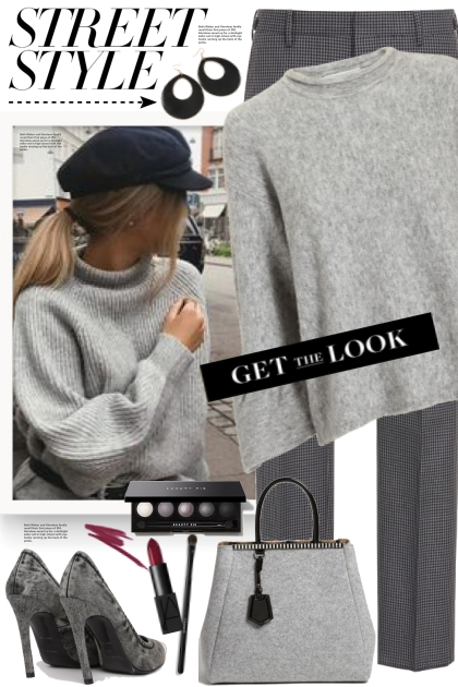 Grey Ruffle Sleeve Sweater!- Fashion set