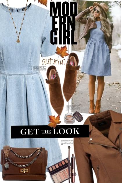 H&M Denim Dress!- Fashion set