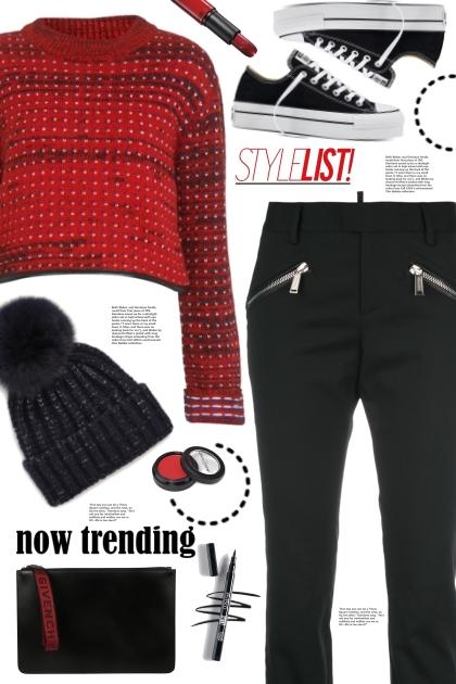 Zipper Pocket Pants!- Fashion set