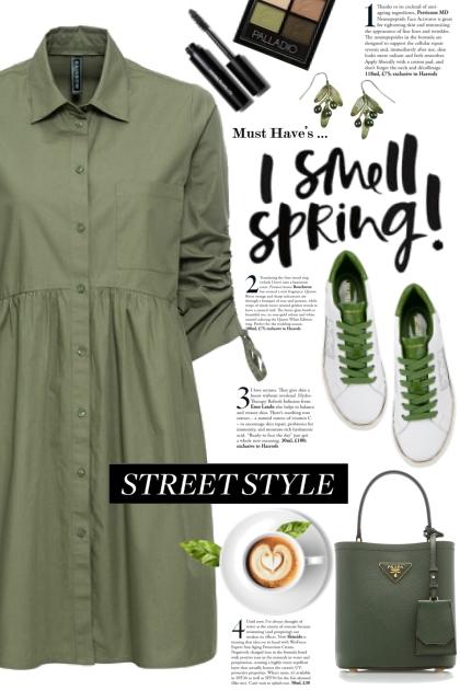 Green Shirtdress! - Fashion set