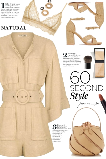 Tan Belted Romper! - Fashion set