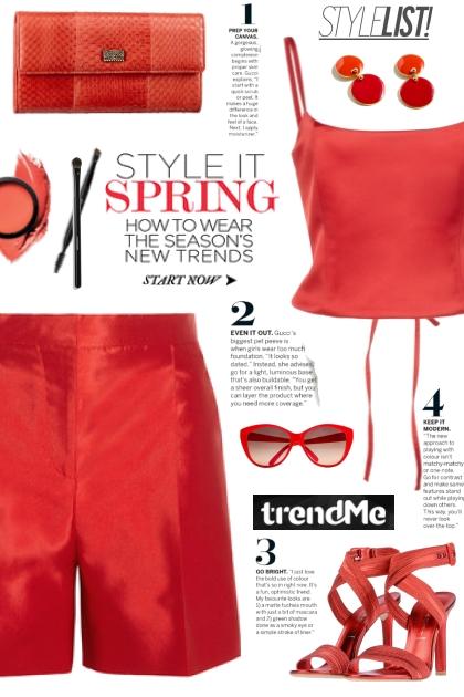Red Satin Shorts!- Fashion set