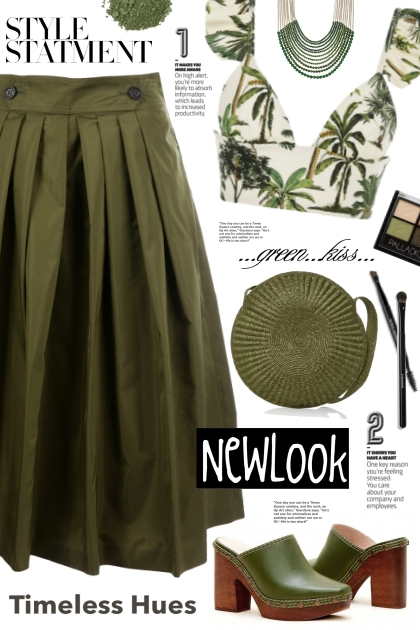 Burberry Olive Green Skirt!
