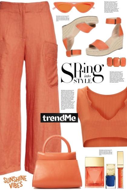 Burnt Orange Rib Top!