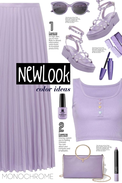 Lilac Satin Pleated Skirt!