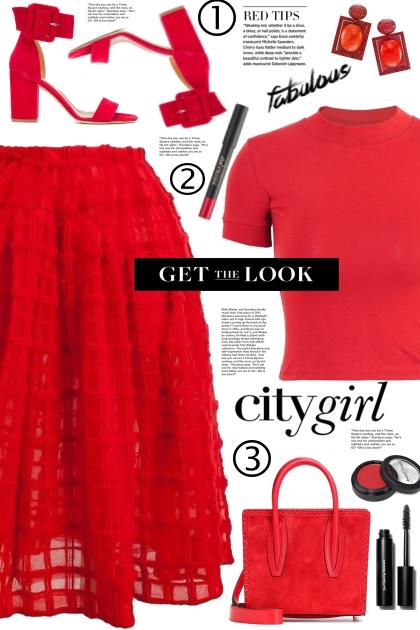 Red Full Skirt!