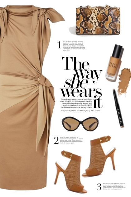Burberry Tie Detail Dress!