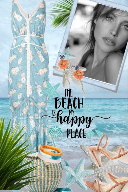Blå sommerkjole