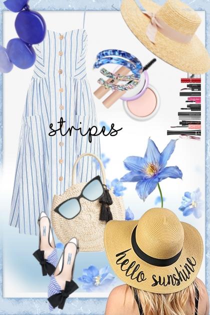 Blå striper