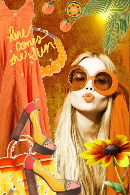 Orange sommerkjole