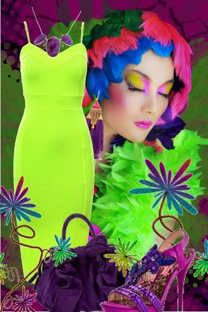 Eplegrønn kjole