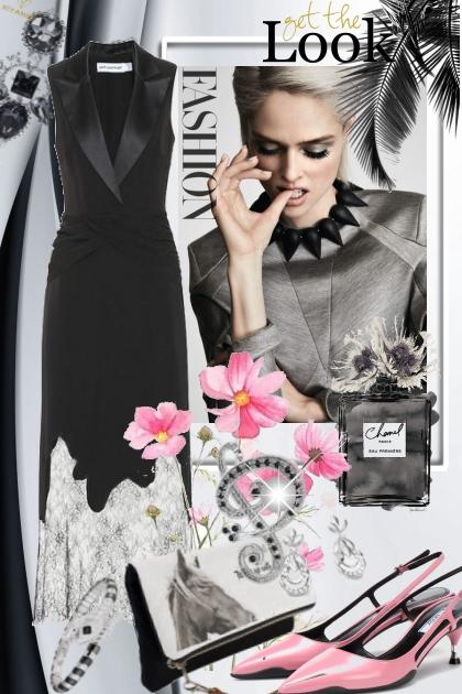 Sort sid kjole