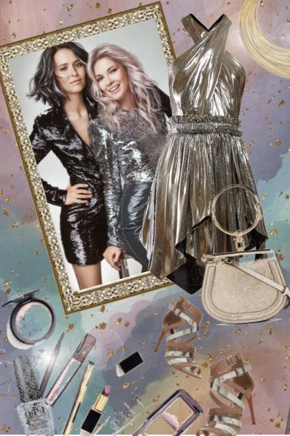Metallic kjole
