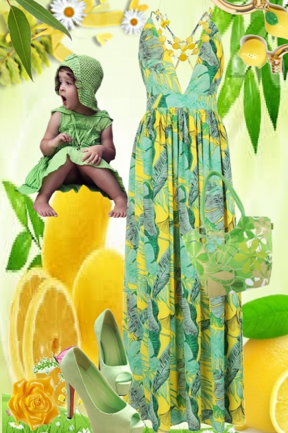 Sitrongult og grønt