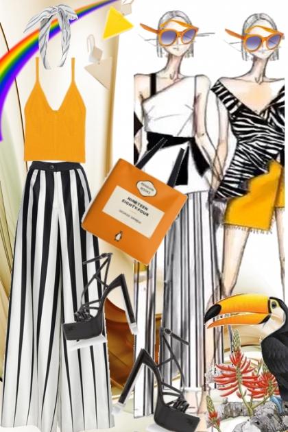Striper og oransje