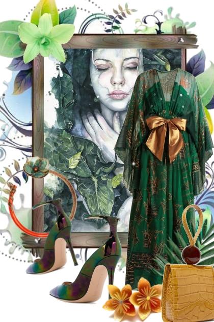 Grønn kjole til fest