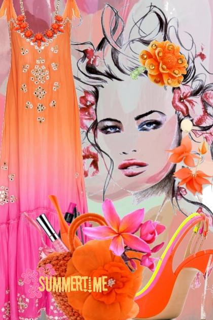 Sommer i orange og rosa