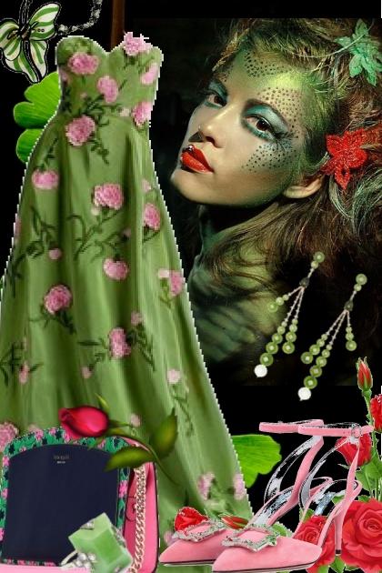 Rosekjole i grønt