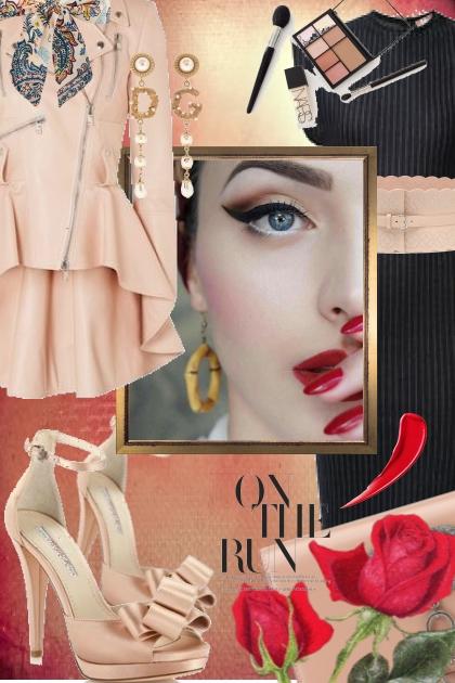 Blek rosa og sort