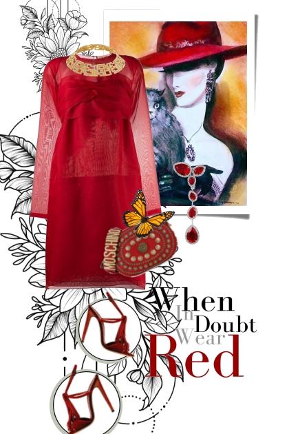 Rød kjole 16-7
