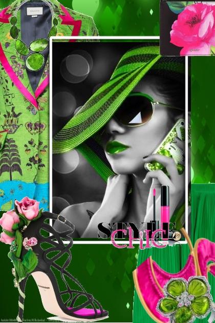 Grønn hatt- Fashion set