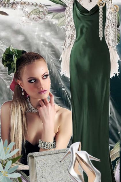 Green dress 13-8