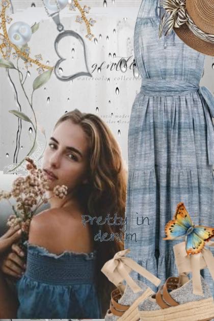Denim kjole 13-8