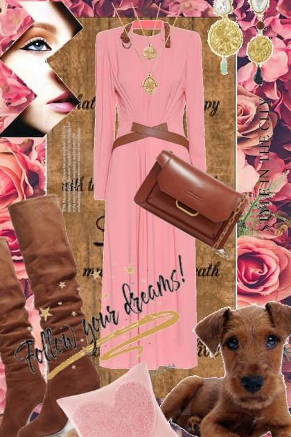 Brun og rosa