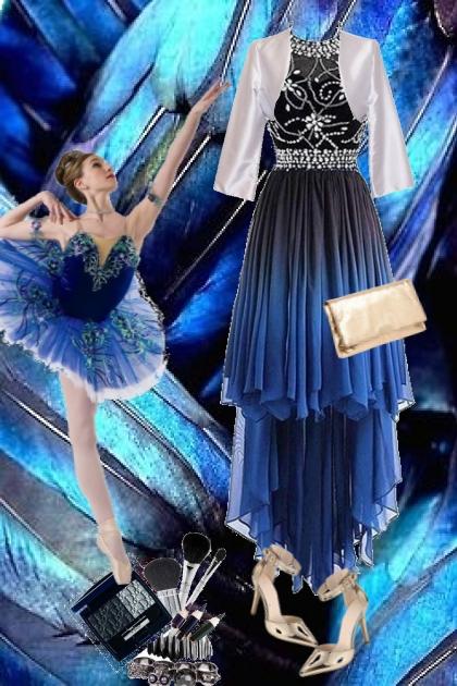 Blå kjole 20-9