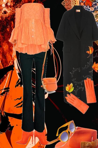 Orange og svart- Fashion set