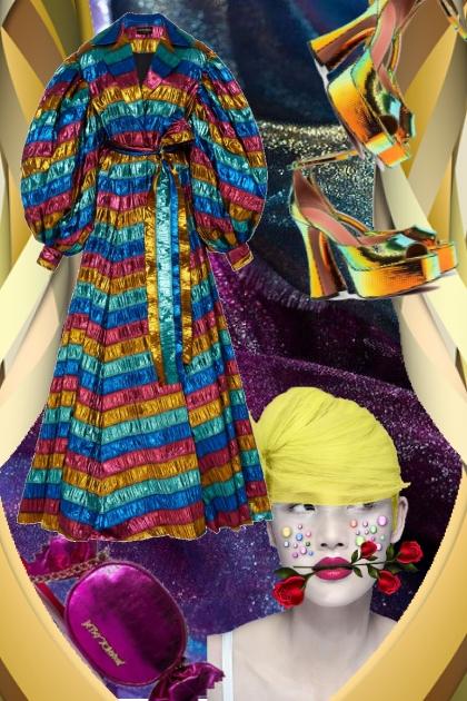 Metallic kjole 1-10- Fashion set