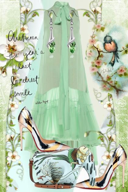 Lys grønn og metallic