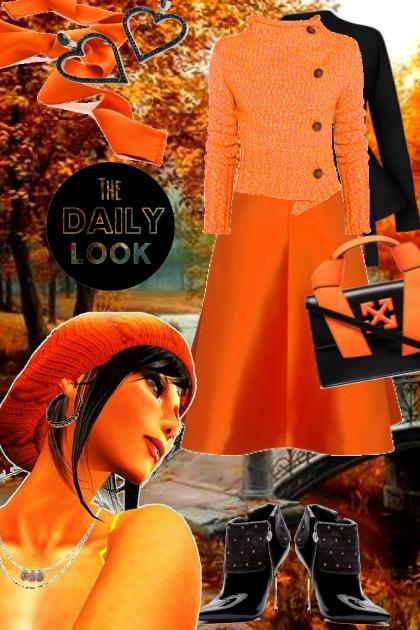 Orange and Black 1