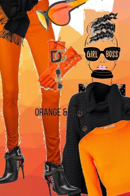 Orange and black 4