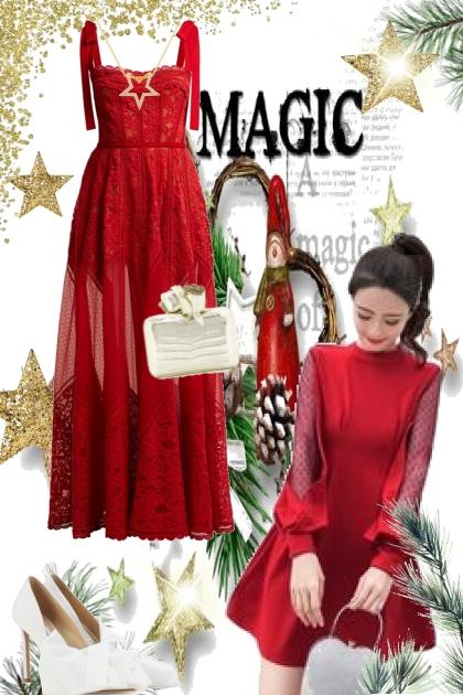 Beautiful red dress- Combinazione di moda