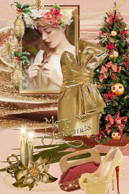 Gull julekjole