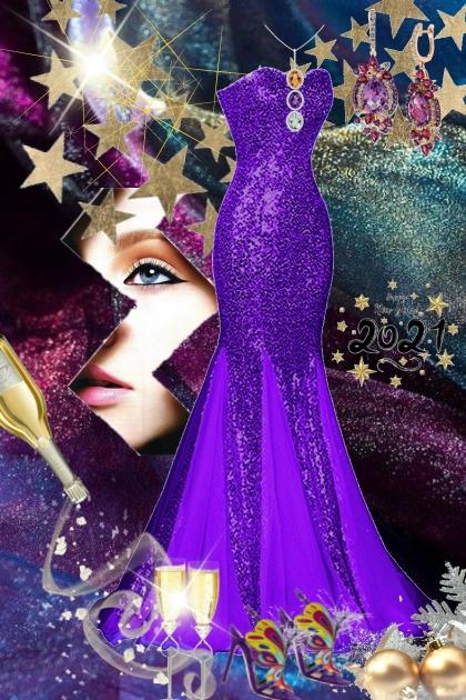 Purple gown 28-12