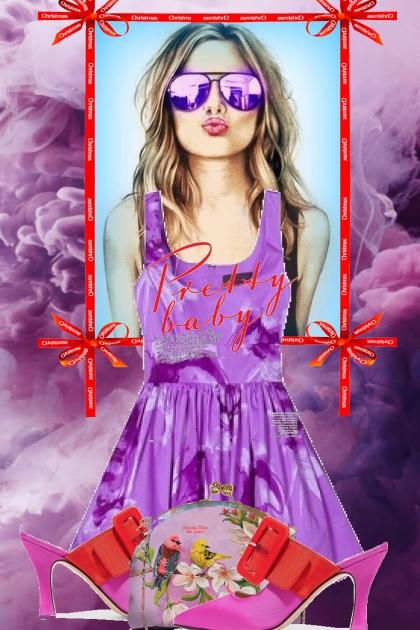 Purple dress 10-1- Fashion set